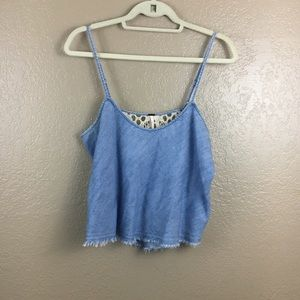 Free People chambray crop top